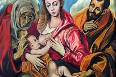 002 Wg El Greca-Święta rodzina z św.Anną ok 1590